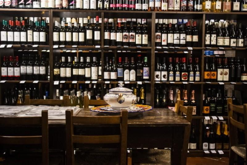 Caneva con fundego da vin la Bottega in Cantina